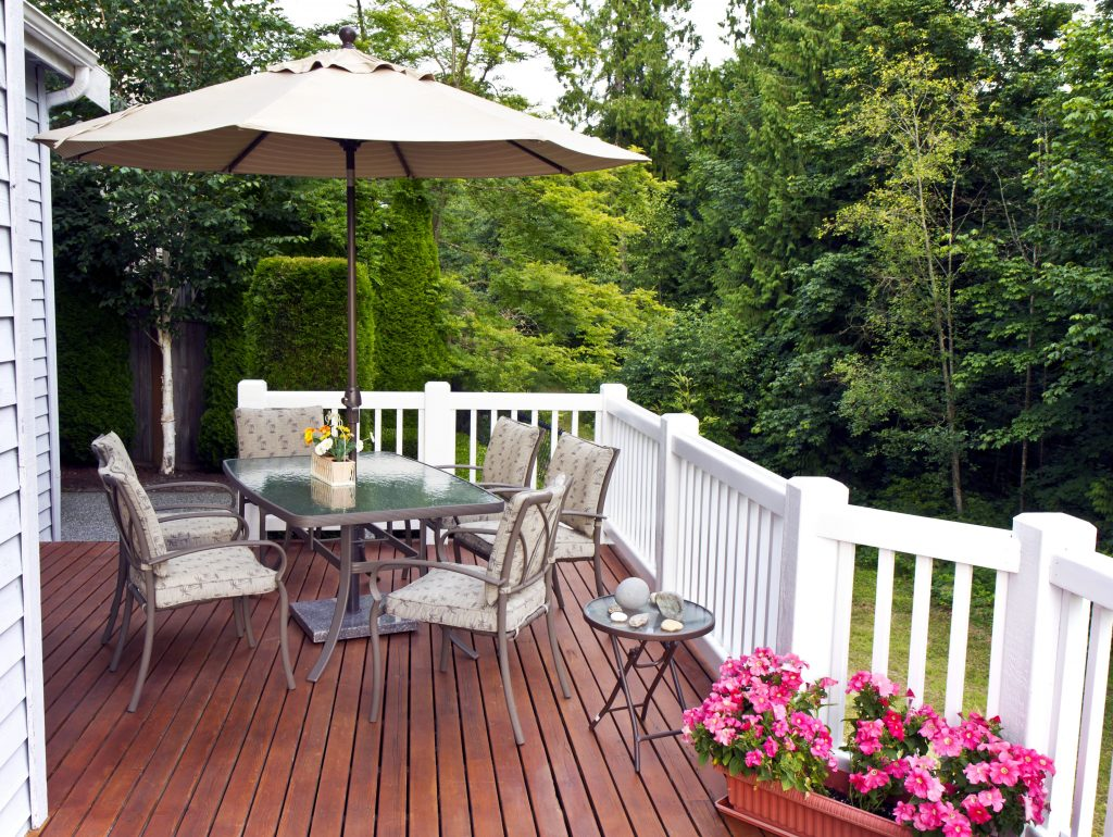 A deck is a great place to relax and enjoy time with family and friends.